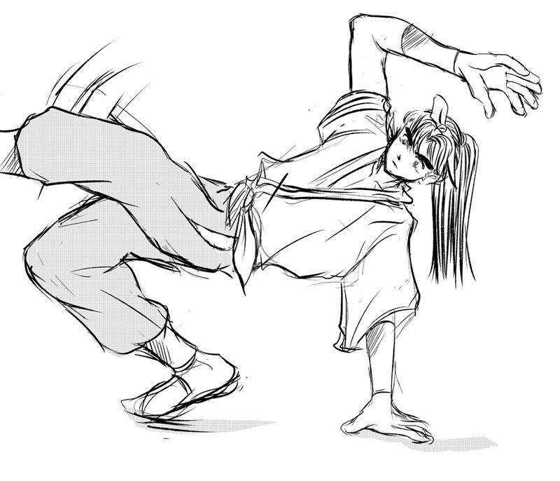 踊る出茂鹿スケッチ